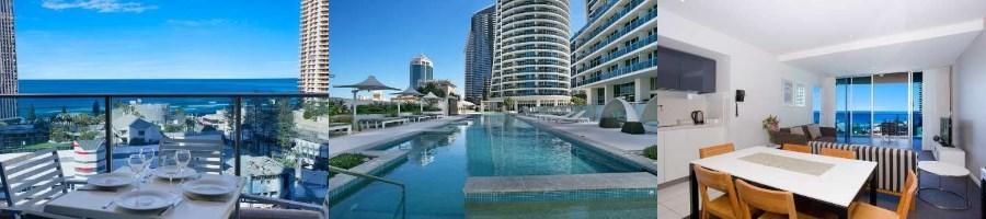 オーストラリアのサーファーズ・パラダイス中心地にある5つ星の高級ホテルタイプアパートメント