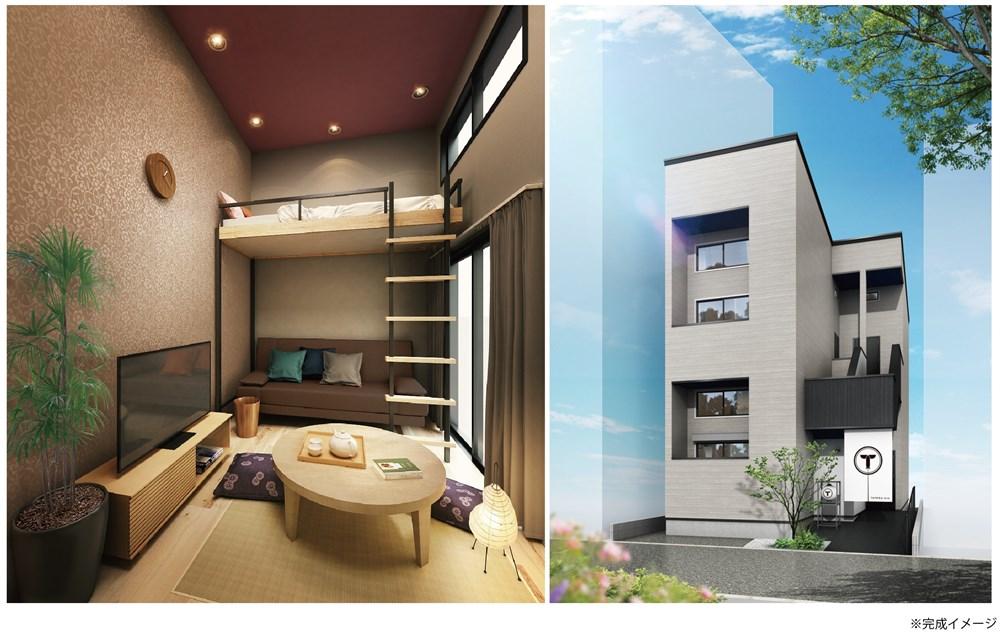IoT民泊アパート「TATERU bnb」第10号・第11号物件