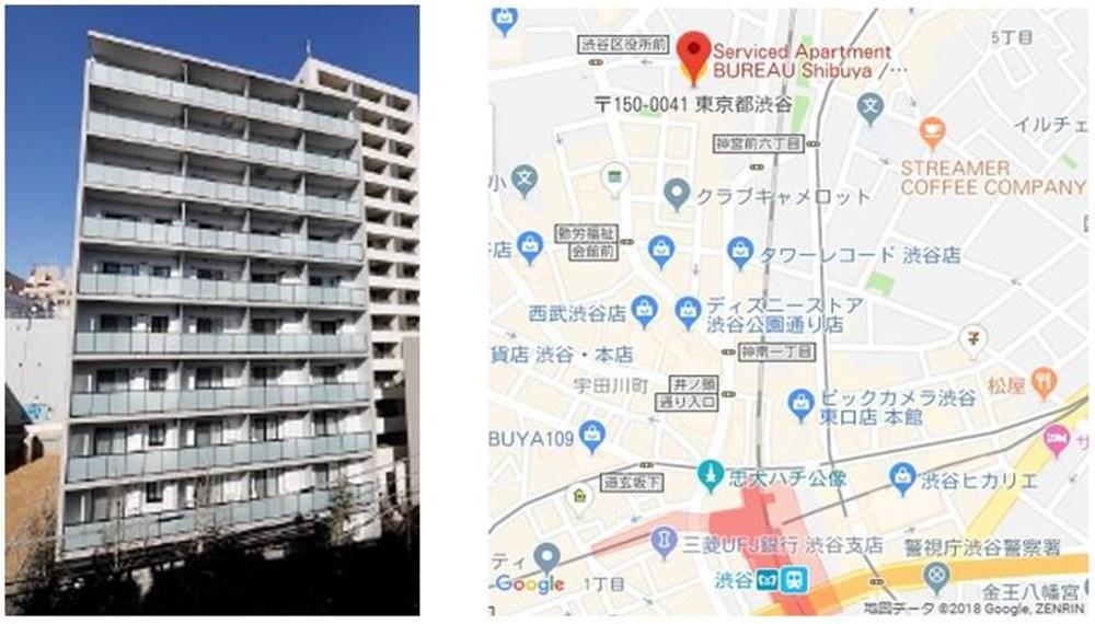 ビュロー渋谷外観地図