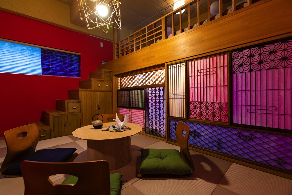 「MOSHI MOSHI ROOMS」第2弾「ORIGAMI」内装