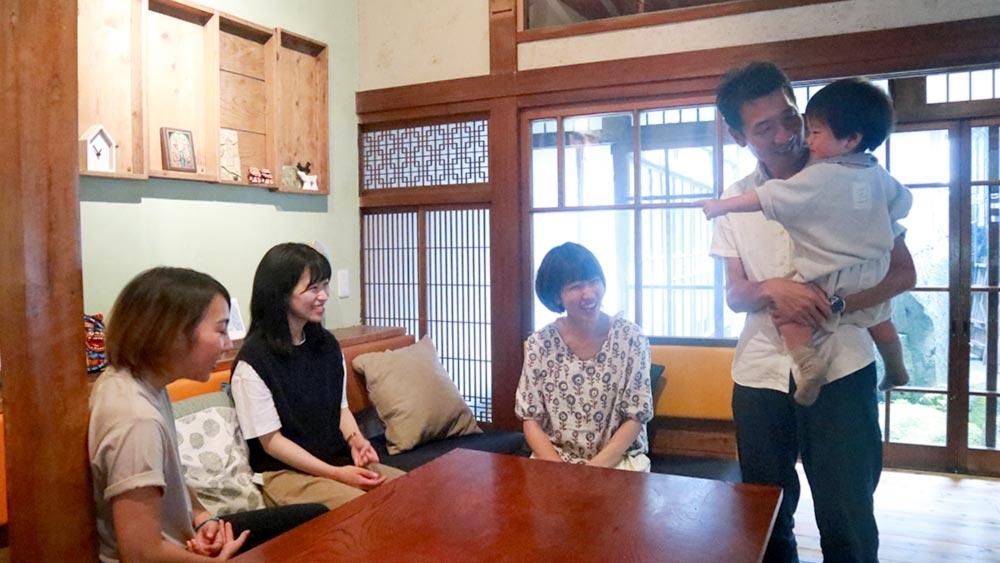 「あなた」を家に迎え入れる竹田市にある「あなた」の家族