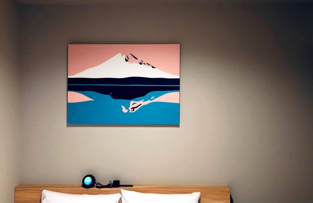 客室内アート【逆さ富士】