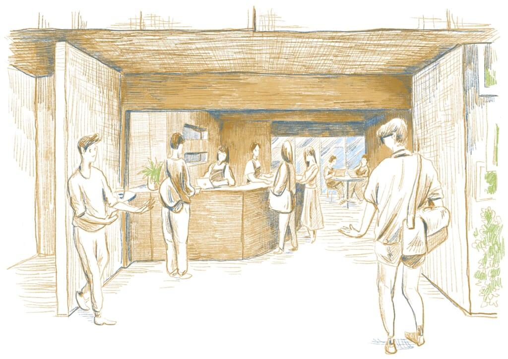「BOOK AND BED TOKYO」と「Coffee Supreme」によるコーヒースタンド「Parlor's」