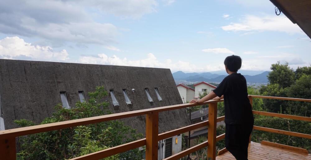 函南町のご自宅のテラスから見える風景
